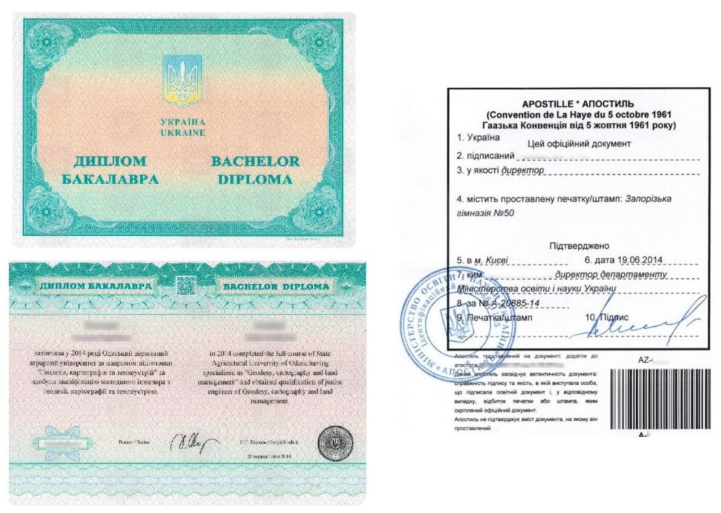 Апостиль на диплом Украины - Справка Информ