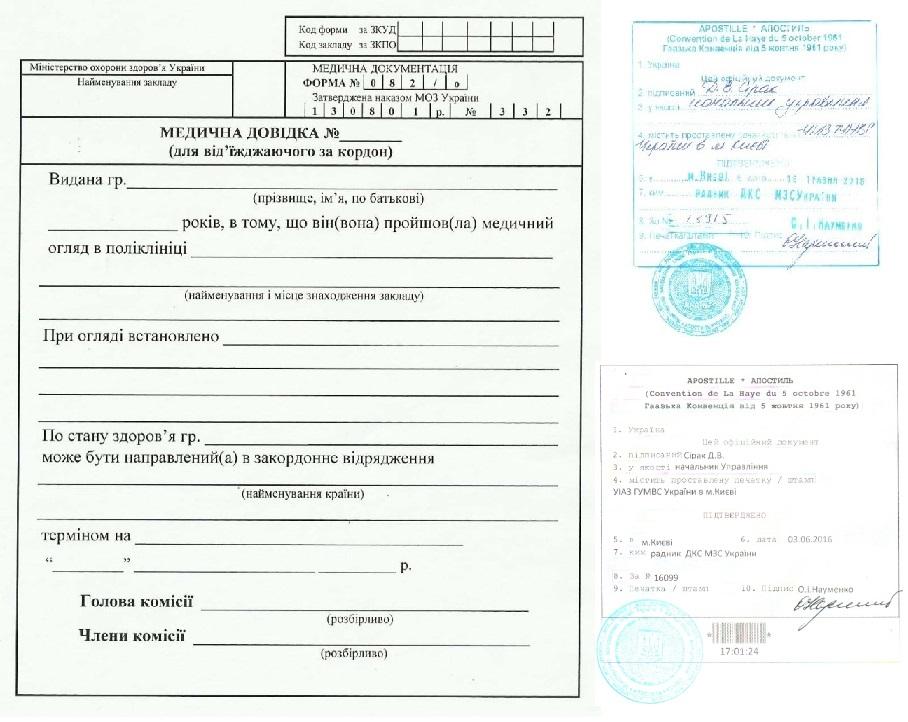 Форма 082/у медицинская справка для выезжающего за границу образец Справка в ГАИ 003 в у Крылатское