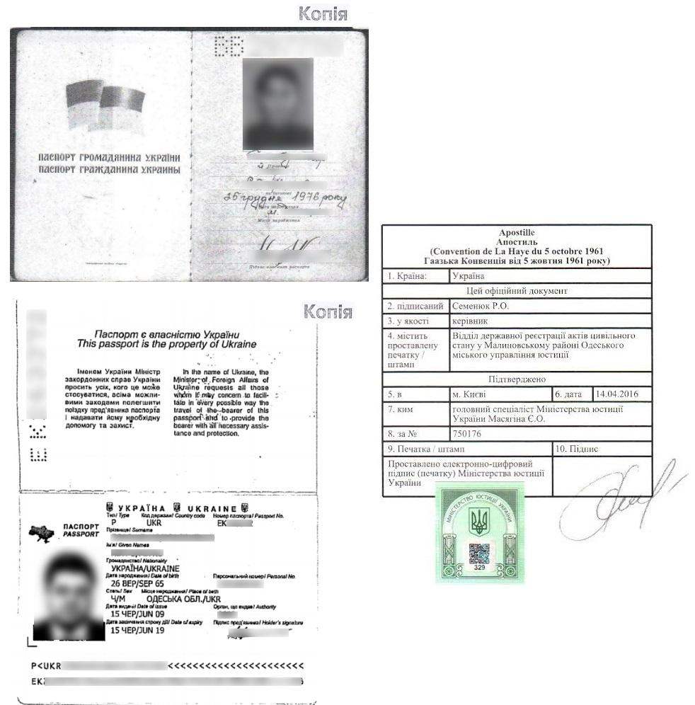 Апостиль на нотариальную копию гражданского или заграничного паспорта Украины - Справка Информ